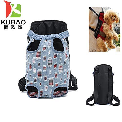 KUBAO S M L XL Pet Dogs Cats Carrier Rucksack Canvas Fronttasche Beine heraus