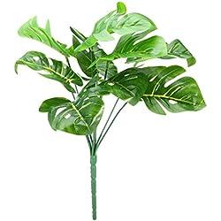 Monstera Pflanze Künstliche Tropische Blätter Grünes für Büro und Zuhause, Hochzeit Dekor (plant #2)