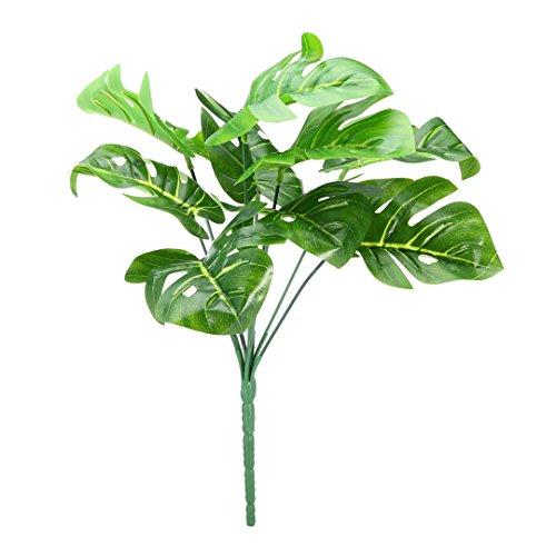 Monstera Pflanze Künstliche Tropische Blätter Grünes für Büro und Zuhause, Hochzeit Dekor (plant #2) (Monstera Pflanze)