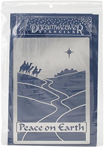 Stampendous-Fustella in metallo, Dreamweaver-Stencil, 15 15 15 x 22 cm, motivo  Peace On Earth | Moda moderna ed elegante  | Molti stili  | Qualità E Quantità Garantita  edb3b9