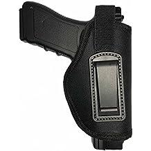 DecoDeco Inside Waistband Holster se ajusta a M & P Shield 9 mm, .40, .45 Auto / GLOCK 17 19 26 27 29 30 33 42 43 / Ruger LC9, LC380 Pistola oculta Carcasa IWB