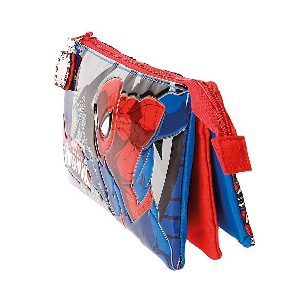 Spiderman Comic Neceser de Viaje, 22 cm, 1.32 litros, Multicolor