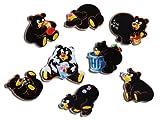 Kühlschrankmagnete Bär Magnete für Magnettafel Kinder stark 8er Set Comic Tiere lustig mit Motiv Schwarz Bären