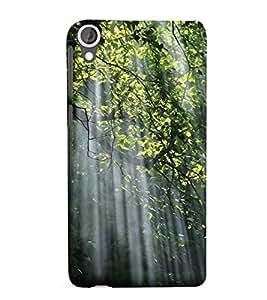 YuBingo HTC Desire 825 Designer Phone Back Case Cover ( Sun Rays falling on Tree Branch )