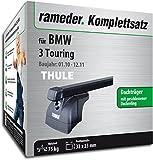 Rameder Komplettsatz, Dachträger SquareBar für BMW 3 Touring (115997-05430-3)