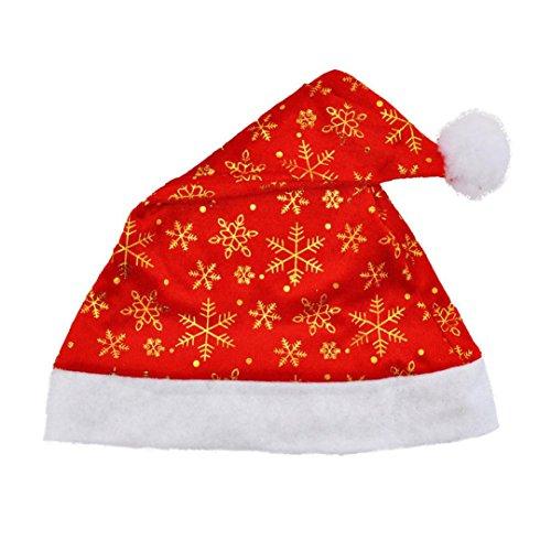 atestpak Akkus Neue Weihnachten Party Santa Hat Rot und Blau Cap für das Kostüm des Weihnachtsmanns (Mädchen, Mafia Kostüm)