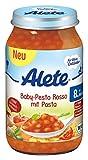 Alete Baby-Pesto Rosso mit Pasta, 6er Pack (6 x 220 g)