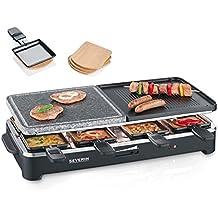 Severin RG 9474 - Raclette eléctrico con piedra de grill natural para 8 personas, 1500 W (Reacondicionado Certificado)