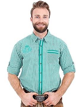 Michaelax-Fashion-Trade Krüger - Herren Trachtenhemd in Grün, Josef (96133-5)