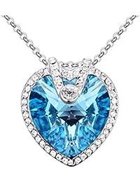 b6fcb3ae7c5e MYVIYSENY Collar de Cristal de la Vendimia de Las Mujeres Cadena de  clavícula eterna Preciosa Colgante