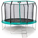 Duplay Ultimate 2.0 Upgraded 12ft Trampoline with Safety Net Enclosure, Ladder and Shoe Bag