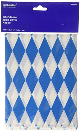 Amscan International 2,6m x 80cm Bayerische Tischdecke aus Kunststoff (Blau / Weiß) (Kunststoff Aus Tischdecken)