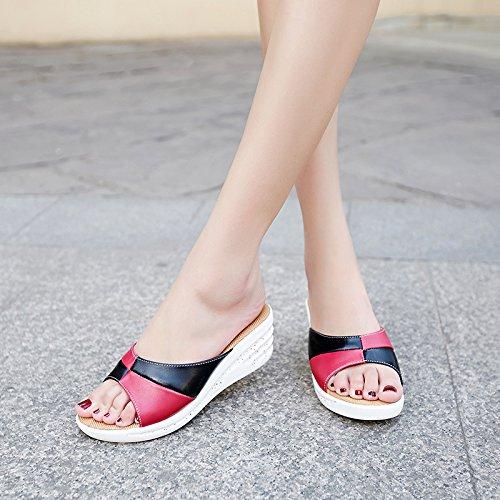 ZYUSHIZ Sommer Strand Sandalen Hausschuhe koreanische Version Frau 39EU