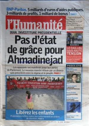humanite-l-no-20149-du-06-08-2009-bnp-paribas-5-milliards-deuros-daides-publiques-3-milliards-de-pro