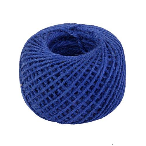 Drawihi DIY Bastelschnur Jute Seil Gartenschnur Hanf Seil für Crafts Arts und Gardening Dekoration (Blau) 50m*2mm