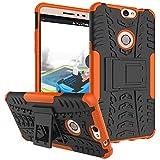 Coolpad Max Hülle, CaseFirst Stoßfest Hybrid Combo Handytasche Anti-kratzer TPU + PC 2 in 1 Handyhülle Anti-Rutsch Schutzhülle Schutz Shockproof Case Cover (Orange)