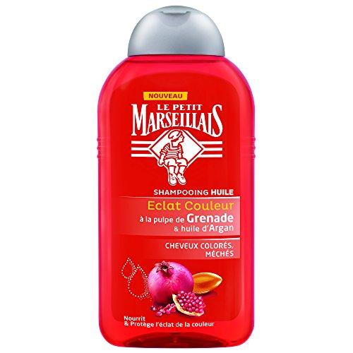 Le Petit Marseillais Eclat Farbe Shampoo Granatapfel + Argan 250 ml – 3 Stück (Rezepte Mandel-Öl Mit)