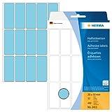 Herma 2413 - Etiquetas multiuso, 20x50 mm, papel mate, 480 unidades, color azul