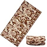#8: Unisex 10 in1 Multifunctional Bandana, non branded us military tube Headwrap bandana for biking cyling hiking etc,, Balaclava Free Size