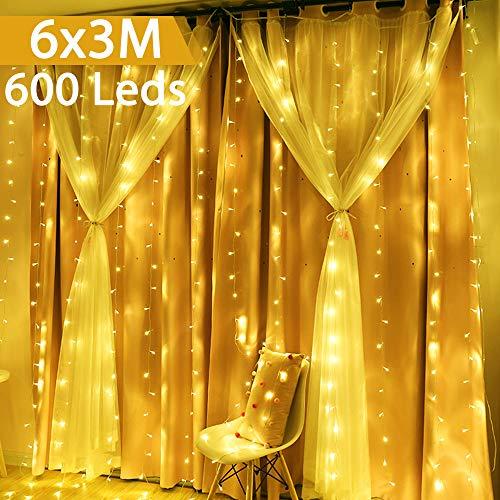 Cortina de Luces LED 6m x 3m