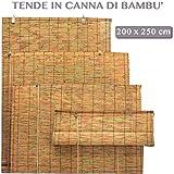 ARELLA BAMBOO CON CARRUCOLA DA ESTERNO GIARDINO TENDE DA SOLE PER ARREDO ESTERNO 200x250 cm