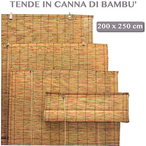 Galleria fotografica ARELLA BAMBOO CON CARRUCOLA DA ESTERNO GIARDINO TENDE DA SOLE PER ARREDO ESTERNO 200x250 cm
