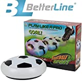 Trendy Kids Air Power Ultra Glow Hockey Football Soccer Ball Disc, Toys for Boys Girls Sports, for Indoor or Outdoor Hover Ball Game with Foam Bumpers and Light Up LED Lights By Better Line