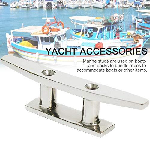 Hualieli 4 Zoll 316 Edelstahl Bootsanlegestelle Klampe Seil Klampe Deck Linie Klampe Marine Yacht Klampen Hardware Für Seil Krawatte Auf Boot Yacht Und Kajak -