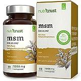 Capsule MSM 1000mg di Nutritrust® - Methylsulfonylmethane puro al 100% da fonti vegane - Ingredienti e test approvati dal laboratorio - Sourcing basato sull'impianto e produzione certificata GMP