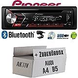 Audi A4 B5 Aktiv - Autoradio Radio Pioneer DEH-S3000BT - Bluetooth | CD | MP3 | USB | Android Einbauzubehör - Einbauset