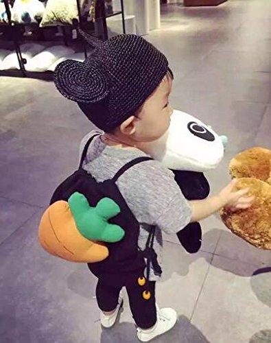 danapp Karotte Kinder Schultertasche Eltern-Kind-Paket Verkauf Magic Gerät, baumwolle, schwarz, 28.5*28.5*30 (Aufblasbare Kostüm Für Verkauf)
