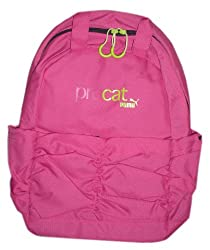 Puma Procat 2 compartment Pink Backpack with ruched front