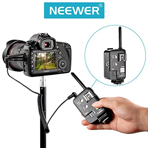Neewer HSS Wireless Flash Strobe Trigger Transimitter Receiver for Canon EOS Cameras, Witstro Speedlite, Neewer TT520 TT560 TT680 Flash (2 Pieces)