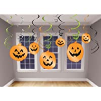 Amscan International Decoration Hanging Swirl Halloween (Pack of 12)