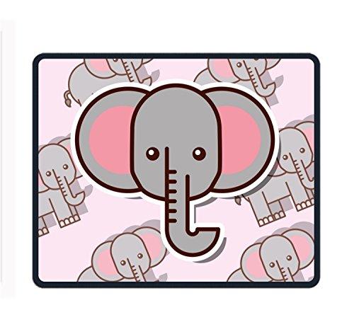 Alfombrilla de ratón grande para videojuegos, diseño de elefantes, bordes cosidos, impermeable,...