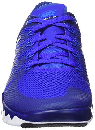 Nike Freetrainer 5.0 V6, Chaussures Multisport Indoor Homme Bleu / Blanc (Dp Ryl Blue / Pht Bl-Rcr Bl-Blk)