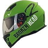Broken Head Adrenalin Therapy VX2 - Motorrad-Helm Mit Sonnenblende - Military-Grün Matt - Größe L...