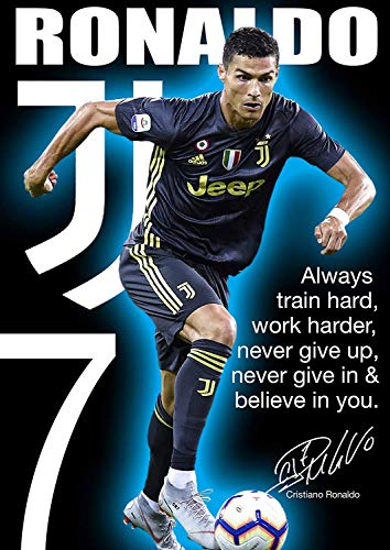 Tainsi Ronaldo Cr7 Poster Motivational Signed Copy A3 420mm X 297mm