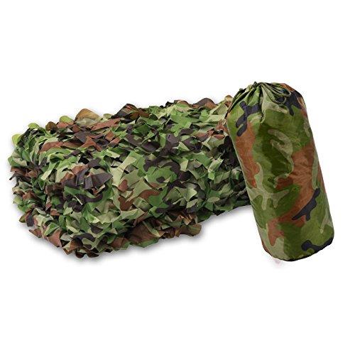 XLORDX 3x4m 3x5m 3x6m Camouflage Netz Tarnnetz Camonet Woodland Tarnung Camo Für Waldlandschaft, flammenhemmend Jagd Armee Outdoor weiß grün -