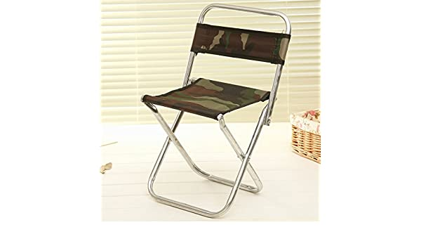 Longwei sedie pieghevoli classiche camo sgabello per schienale in