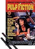 1art1 Pulp Fiction Poster Stampa (91x61 cm) Affisso, Quentin Tarantino E Coppia di Barre Porta Poster Nere