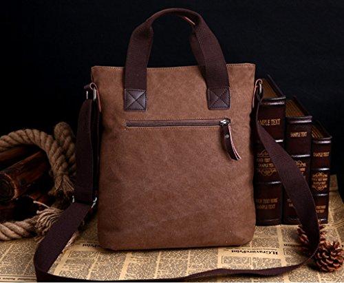 Super moderno Vintage Tela Borsa a tracolla Tempo libero viaggio borsa crossbody borsa a tracolla, Uomo, Armygreen Khaki