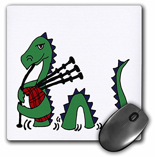 3drose Funny Loch Ness Monster spielt die Dudelsack–Maus Pad, 8von 20,3cm (MP _ 200125_...