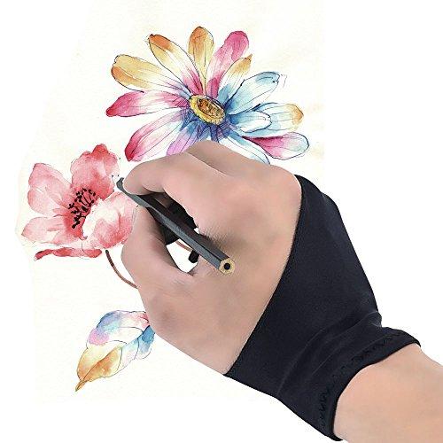 Antifouling Handschuh,Samione Elastisch Antifouling-Handschuh für Grafiktablett Graphics Tablet Pen-Monitor Drawing Tablet Light Box Verfolgenbrett - (Freie Größe)