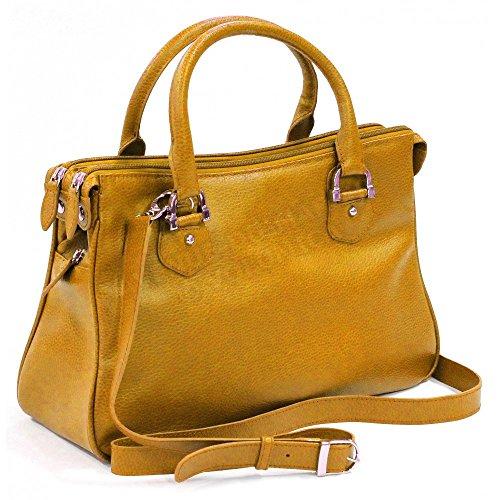 Tasche MONACO Leder Herstellung Luxe Französische Gold - Goldfarben