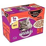 Whiskas 1+ Katze Beutel Cremige Fleischigen Suppe 12 Pro Packung (Packung mit 2)