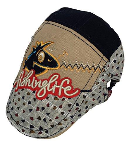 Bigood Béret Coton Chapeau Enfant Garçon Fille Casquette Imprimé Camping Randonnée Kaki