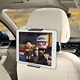 Tablet Halterung Auto, yotame KFZ-Kopfstützen Halterung 360 Grad Drehung Universal für iPad 2018 Pro, iPad 4/Air, Samsung Galaxy Tab, Smartphone und Tablet mit 4-11 Zoll
