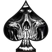 2 x Skull Ace of Spades Sticker Decal Motorbike Helmet Boards Tablet iPad Laptop
