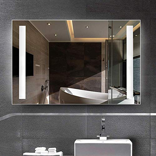 BJYX Badezimmer-Spiegel-Verfassungs-Spiegel Fill Licht Spiegel mit Illuminated LED-Licht, Sensor-Schalter und beheizbarer Demister Spiegel Pad, for Make-up kosmetischen